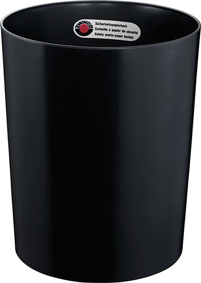 Z12501 - Sicherheitspapierkorb 24L, TÜV-zertifiziert - schwarz