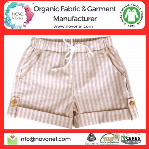 Organic baby pants shorts trousers manufacturer in Turkey