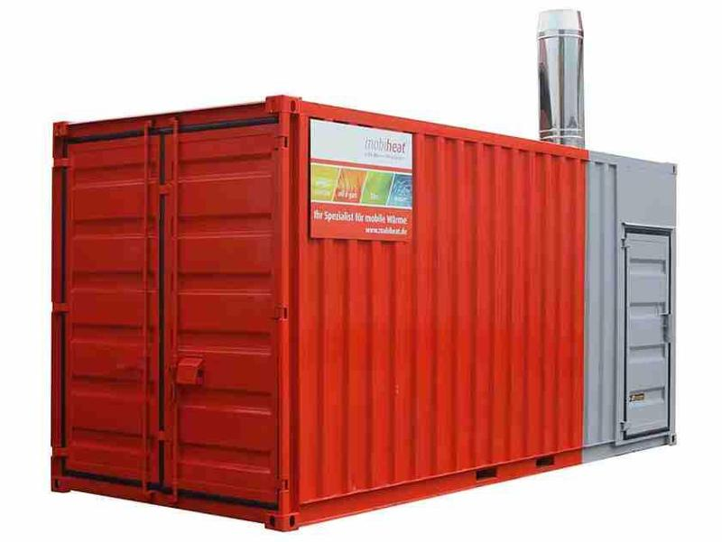 Vermietung orange-line - Heizcontainer MH1000C