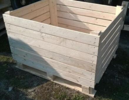 Wooden crates for fruits and vegetables - Wooden crates for apples, pears, potatoes etc.