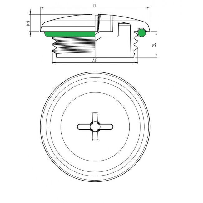 Verschlußschraube mit O-Ring, metrisch-IP68-