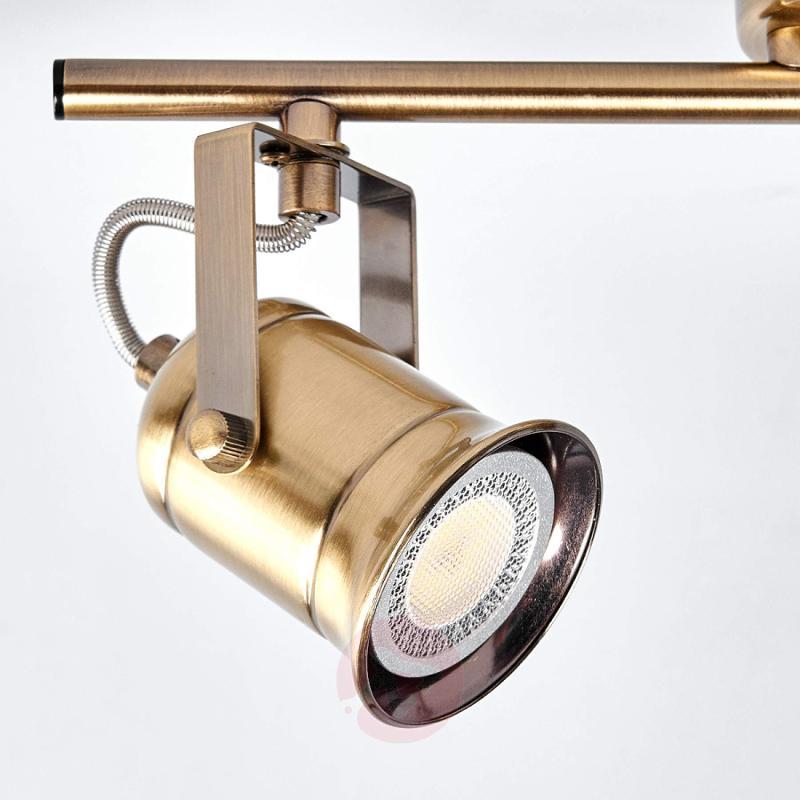 2-bulb GU10 spotlight Marlis, antique brass - indoor-lighting