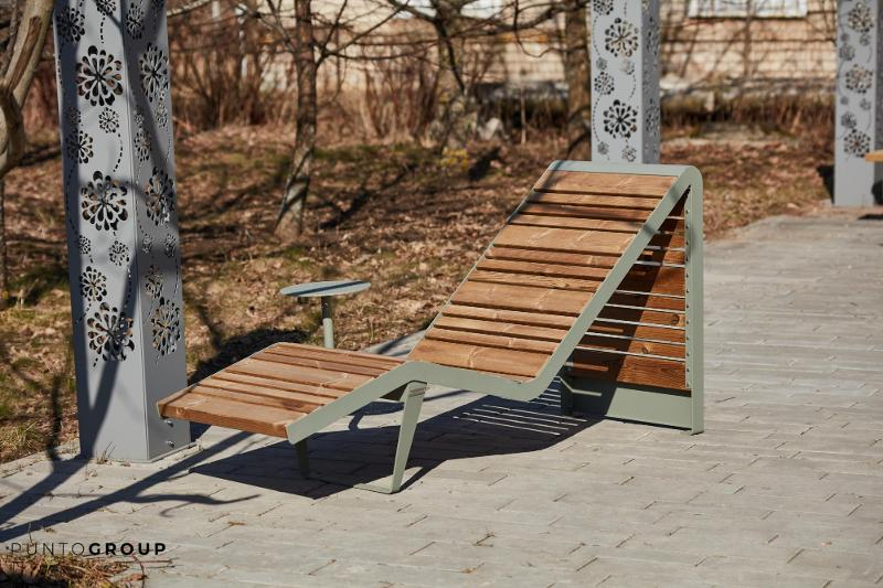 Bench «Infinity wood» (Sun lounger) - Benches and sun loungers