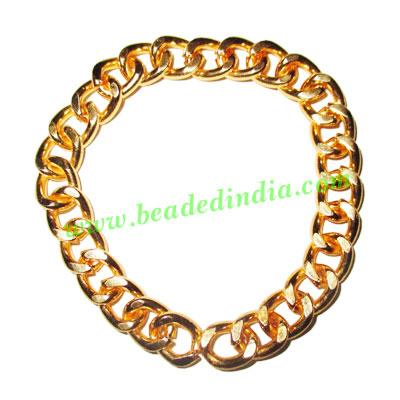 Gold Plated Metal Chain, size: 2x9mm, approx 7.6 meters in a - Gold Plated Metal Chain, size: 2x9mm, approx 7.6 meters in a Kg.