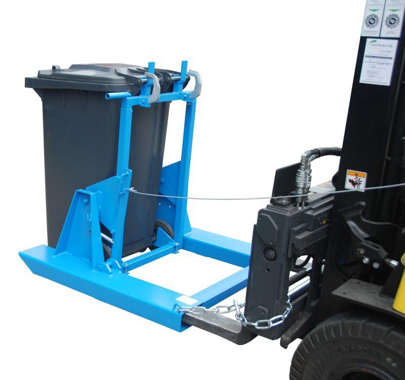 Wheelie bin tipper type MK - For emptying and cleaning 80/120 or 240 litre wheelie bins