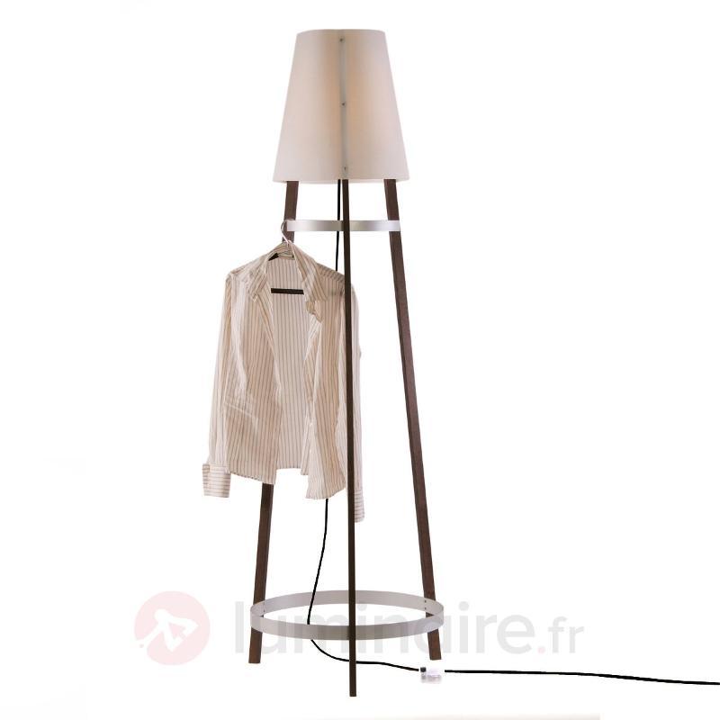 Lampadaire Wai Ting câble anthracite - Lampadaires en bois