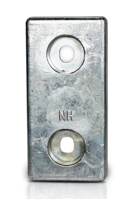 Ânodo de zinco para protecção catódica - Ânodos de aparafusar NH 2.5