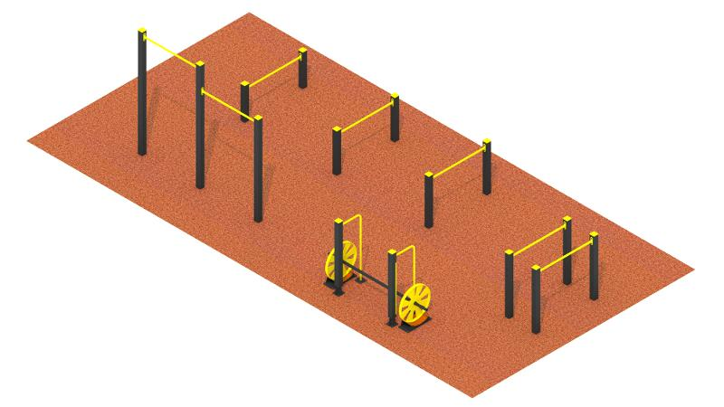 Workout sports ground №1 - Workout (excluding covering )
