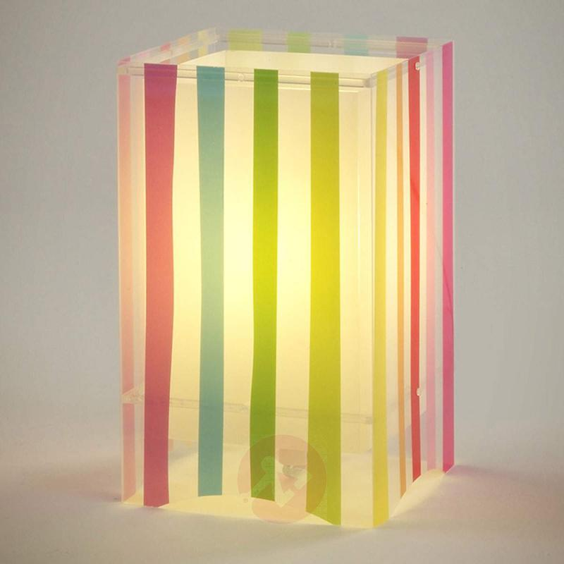 Colourful striped children's table lamp Decoline - Window Sill Lights