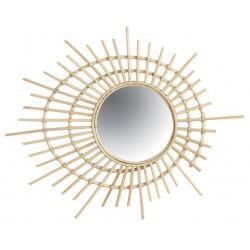 Miroir en rotin spirale - Déco