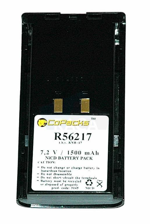 Replacement two-way radio battery for Kenwood TK280 / TK380 - Two-way radio battery Kenwood