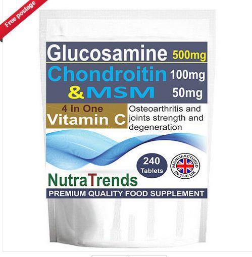 Glucosamine,Chondroitin,MSM,Vitamin C Complex Joint Strength - Glucosamine,Chondroitin,MSM,Vitamin C Complex Joint Strength Tablets
