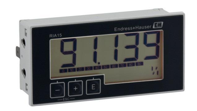 RIA15 Schleifengespeister Anzeiger für 4…20 mA oder HART® -