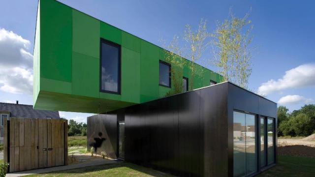 Container maritime habitable - Transformation de container maritime en maison d habitation
