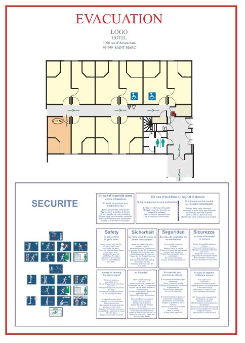 Plan chambre - Hotel