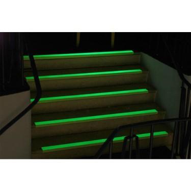 Nez de marche antidérapant escalier - Bord de Marche Super Agrippant Photoluminescent Mastic pour