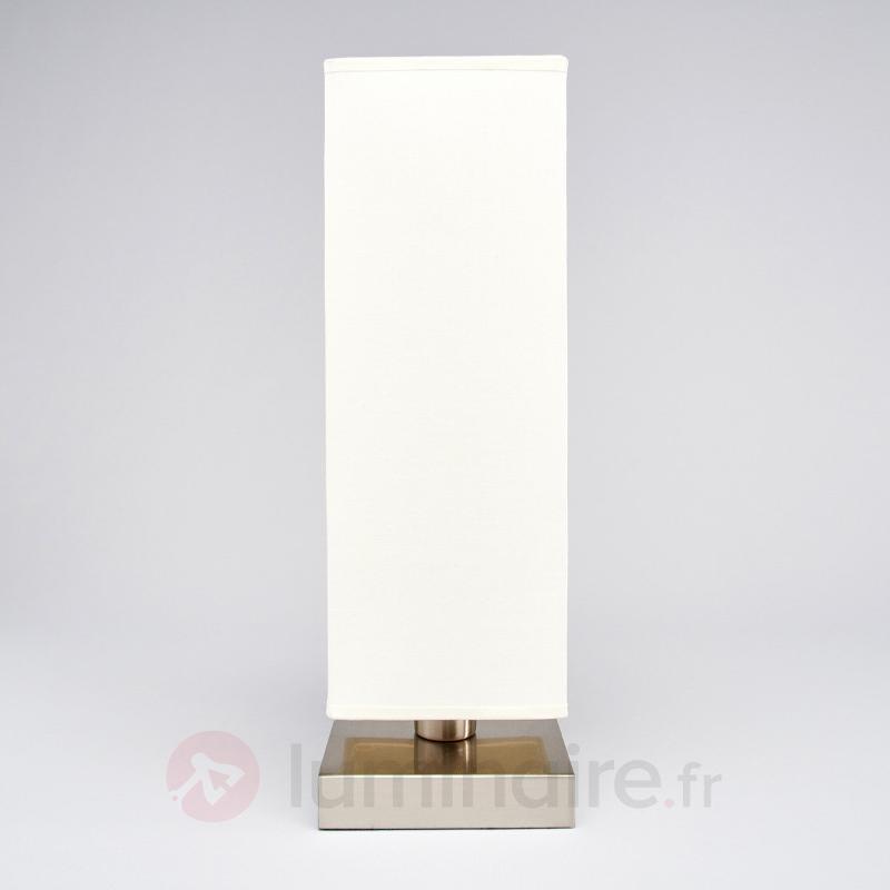 Martje - Lampe à poser blanche avec LED E14 - Lampes à poser en tissu