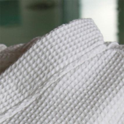 Linge de bain : serviettes et peignoirs - Peignoir Nid d'Abeille Maya blanc