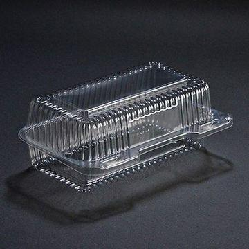 Hinged Containers - Clear plastic hinged PET food carriers