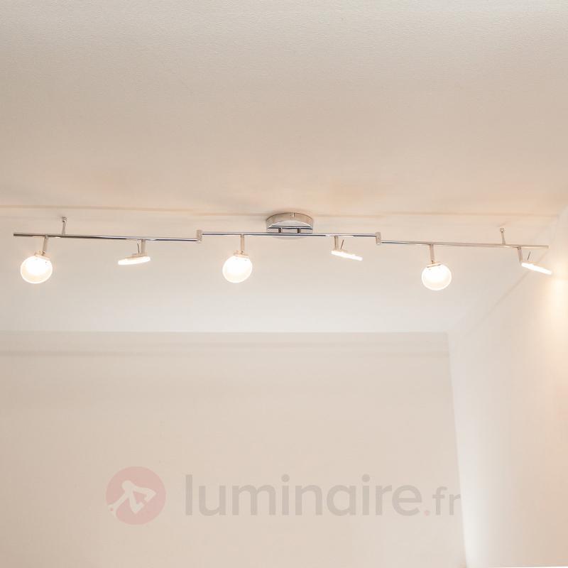 Plafonnier LED à six lampes Sena - Plafonniers LED