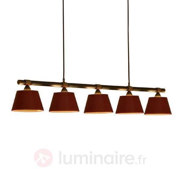 Suspension LIVING TABLE à 5 lampes rouge - Cuisine et salle à manger