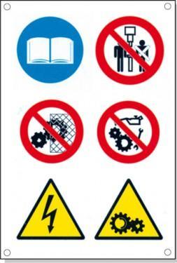 Cartelli pericolo rischi residui D - null