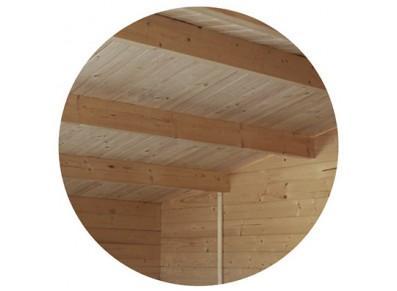 Garage bois - Emboité, sapin brut