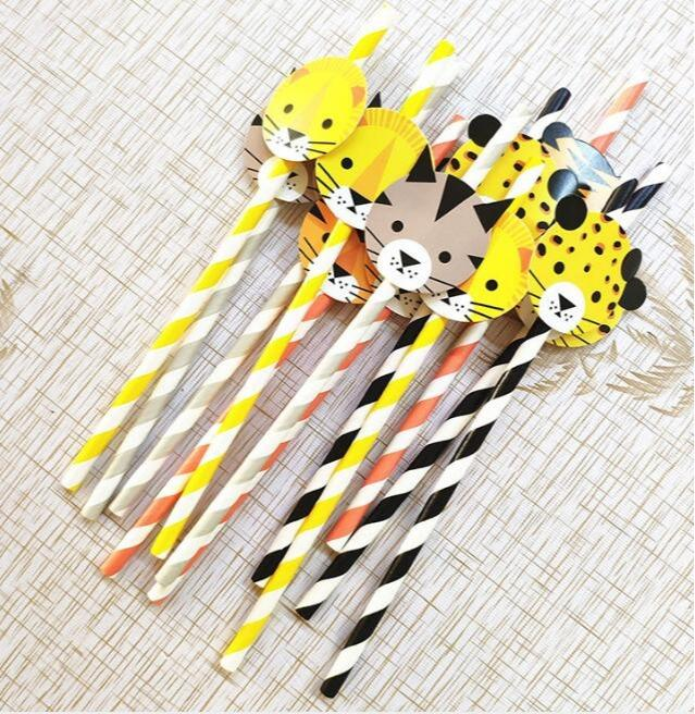 Printed drinking straw - Disposable logo printing cocktail party paper straw