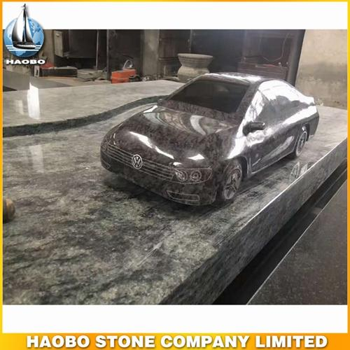 New Style Volkswagen Stone Car Carving Made In Grey Granite