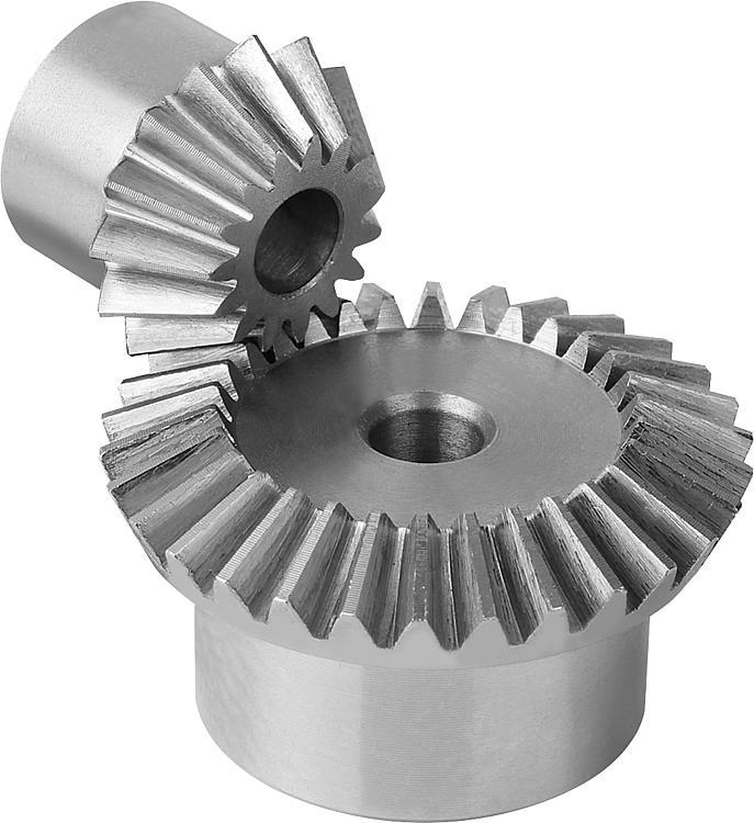 Engrenage conique en acier, rapport 1:2 Denture droite... - Engrenages droit Crémaillères Engrenages coniques