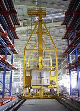 Air cargo: the elevating transfer vehicle - Stacker Cranes - AS/RS