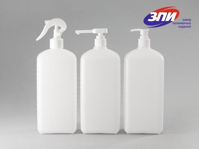 Бутылка пластиковая 1 литр  для антисептика  -