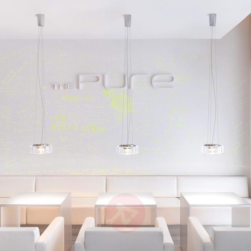 Elegant LED glass hanging light Curling M - design-hotel-lighting