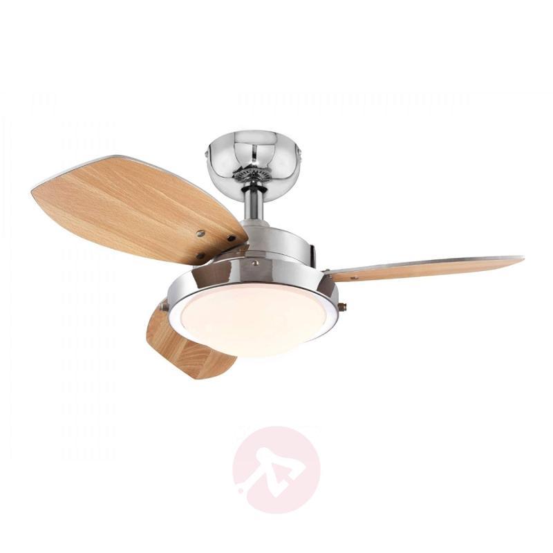 Wenge ceiling fan with halogen lamp - fans