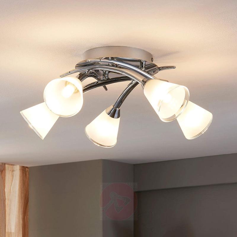 Floki LED ceiling light with chalice-shaped shades - indoor-lighting