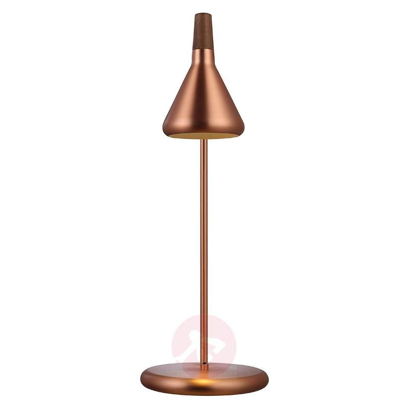 For LEDs - copper-coloured Float table lamp - Desk Lamps