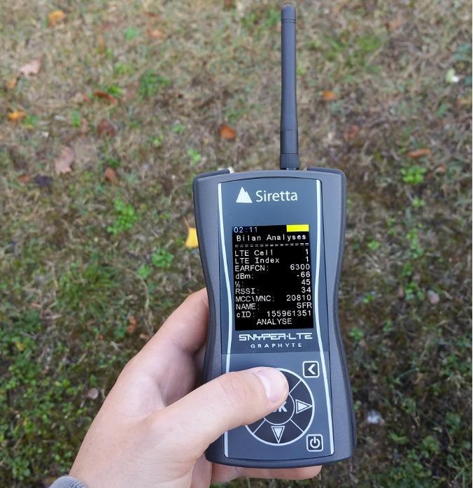 SNYPER-LTE GRAPHYTE de Siretta - Testeur de réseau 2G-3G-4G