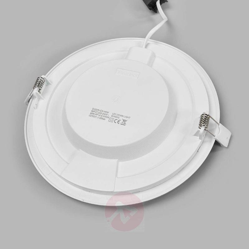 Bright LED recessed light Joki, IP44 - Recessed Spotlights