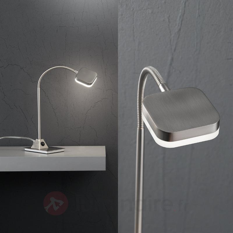 Lampe à poser LED Tobias 5 W nickel mat - Lampes de bureau LED