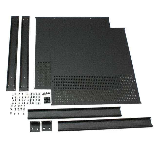 """CHASSIS 18X16.6X1.8"""" BLACK - Hammond Manufacturing RM1U1918VBK"""