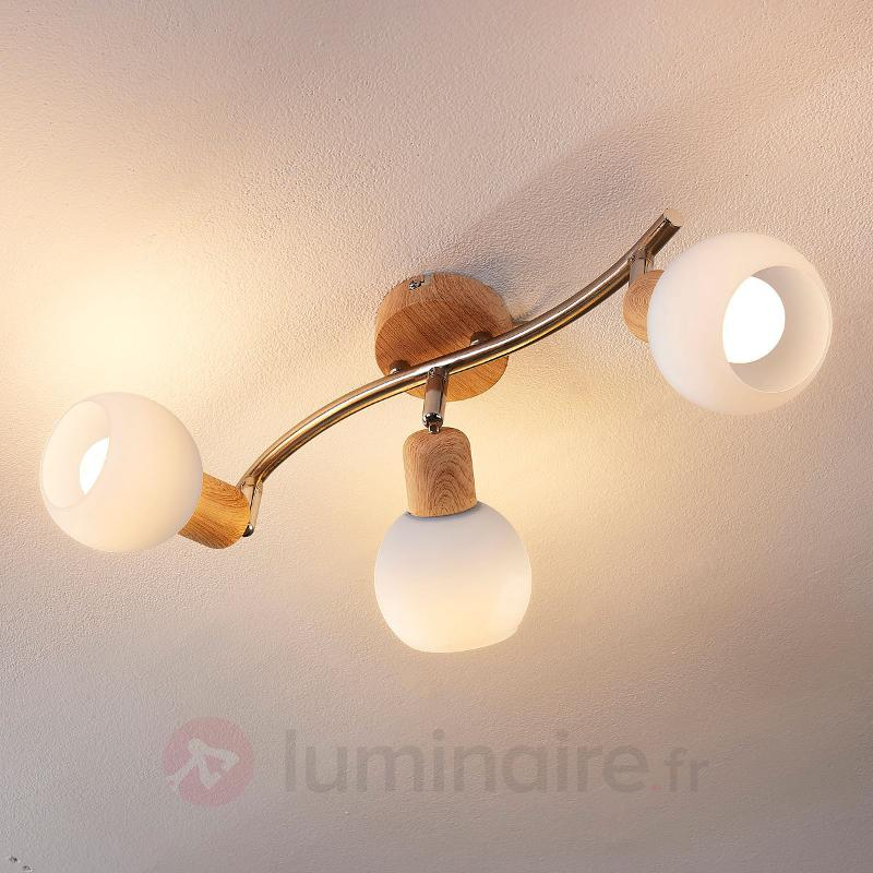 Beau plafonnier Svenka avec LED E14 - Spots et projecteurs LED