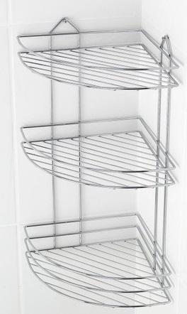 Bathroom corner wire baskets chrome - Bathroom corner wire baskets chrome