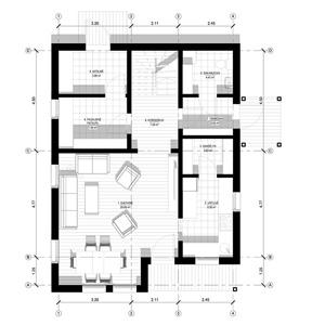 TWO-STOREY PANEL HOUSE WITH AN ATTIC - Panel house