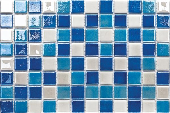 Enza A.242 Mix - 38x38x6mm Glass Mosaic Tile with SilyCord System