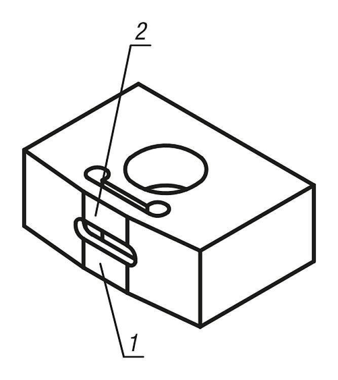 Lardon élastique Brevet n° 4200676 - Cales parallèles, lardons goupilles cylindriques