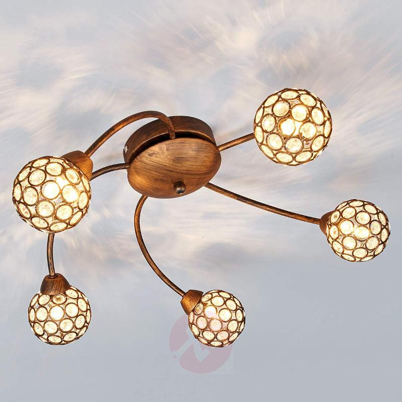 Beautiful ceiling lamp Quinn in rust brown - Ceiling Lights