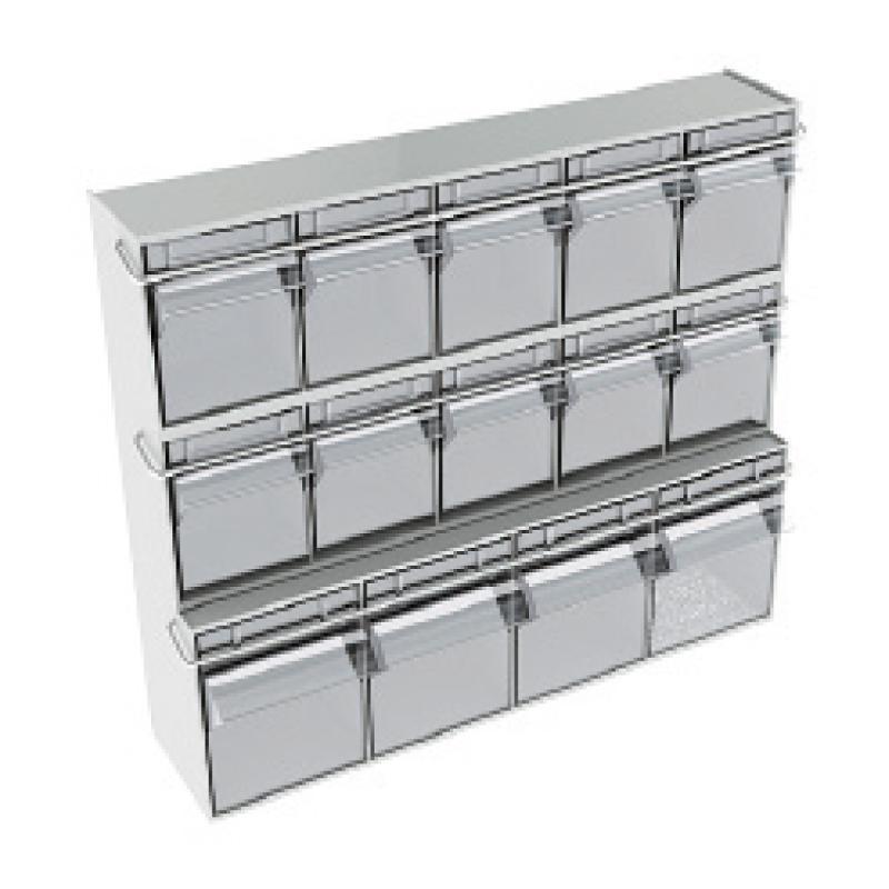Spender mit 14 Boxen für Silver / Exclusive Line - Spender