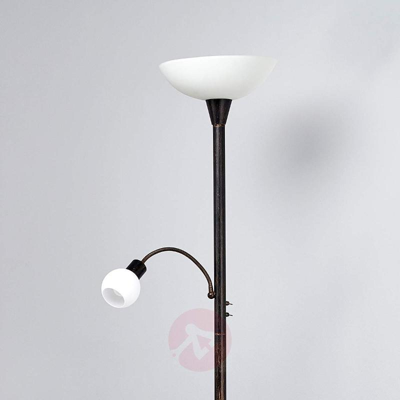 LED uplight Elaina with reading light - Floor Lamps