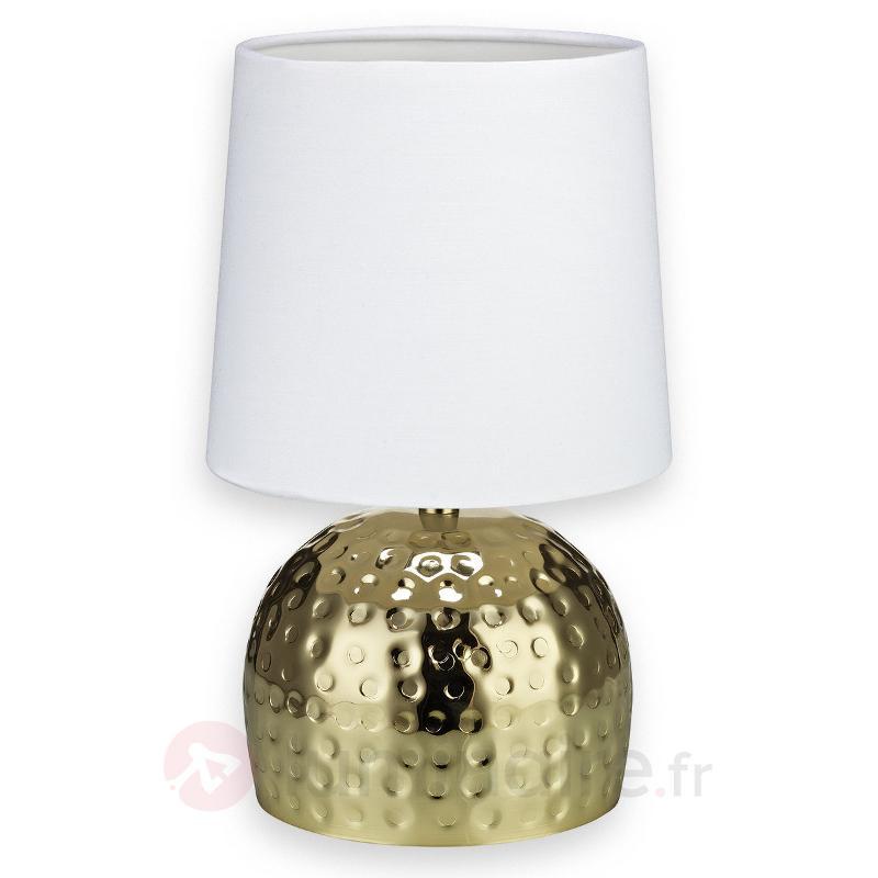 Lampe à poser Hammer, socle doré - Lampes à poser en tissu