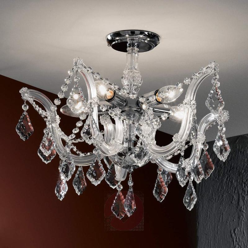 Caroline Crystal Ceiling Chandelier Elegant - Ceiling Lights